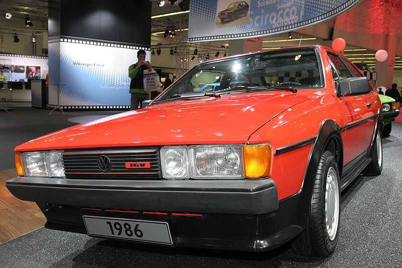 VW Scirocco GTX 16 V, 2. Generation, produziert am 28. Mai 1986, marsrot