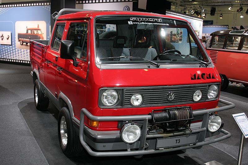 """VW T3 Doppelkabine Studie """"Magma"""", aus dem Jahr 1987, 4-Zylinder-Boxer-Motor, wassergekühlt, 95 PS"""