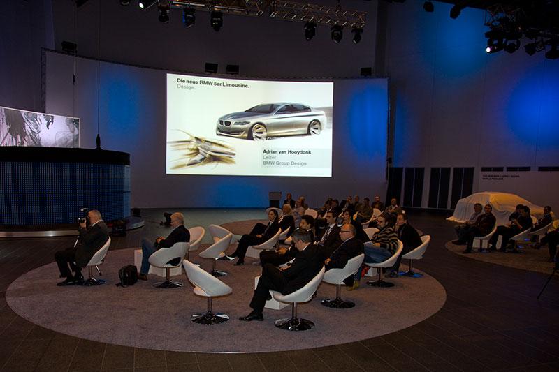 Premiere der neuen 5er-Limousine im FIZ-Studio auf Etage 5