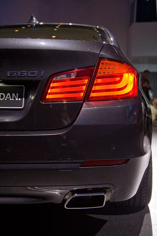 BMW 550i (F10), Heckansicht