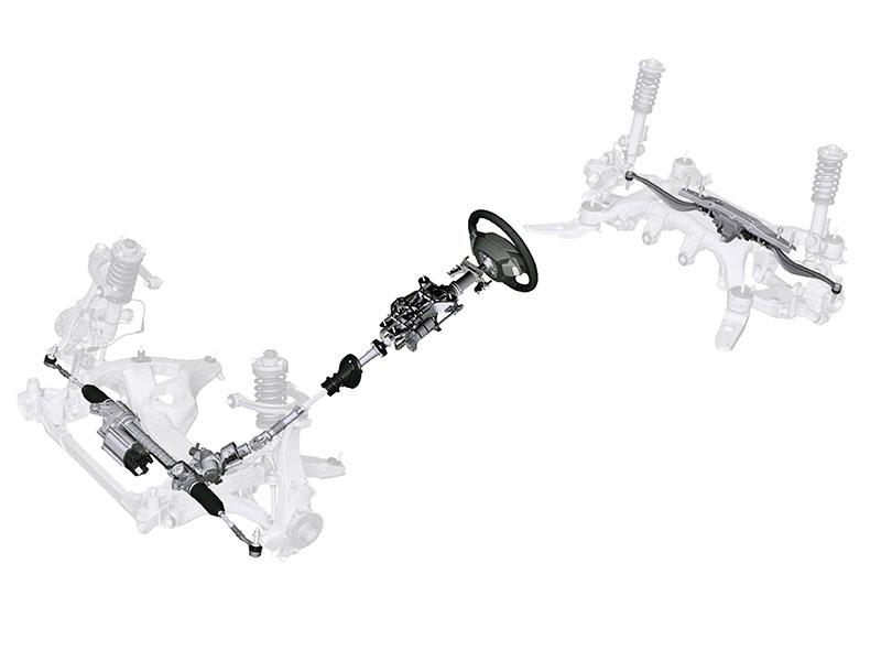 Die neue BMW 5er Limousine, Elektromechanische Integral-Aktivlenkung