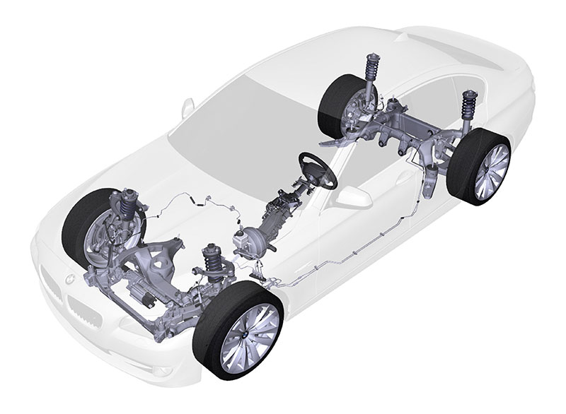 Die neue BMW 5er Limousine, Fahrwerk
