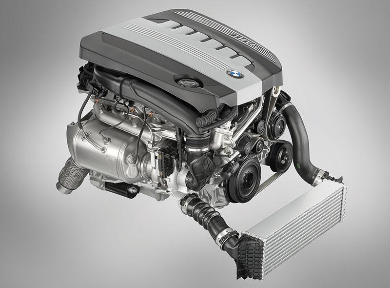 BMW 6-Zylinder-Dieselmotor mit Aluminium-Kurbelgehäuse und 1800 bar Piezo-Einspritzung