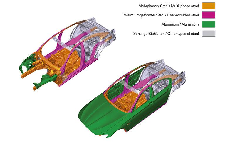Die neue BMW 5er Limousine, intelligenter Leichtbau
