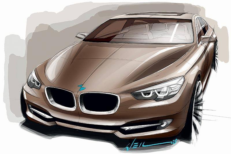 BMW Concept 5 Series Grand Turismo, Design-Skizze