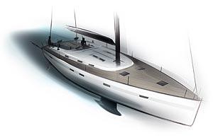 bmw group designworksusa definiert die silhouette der bislang gr ten bavaria yacht der cruiser 55. Black Bedroom Furniture Sets. Home Design Ideas