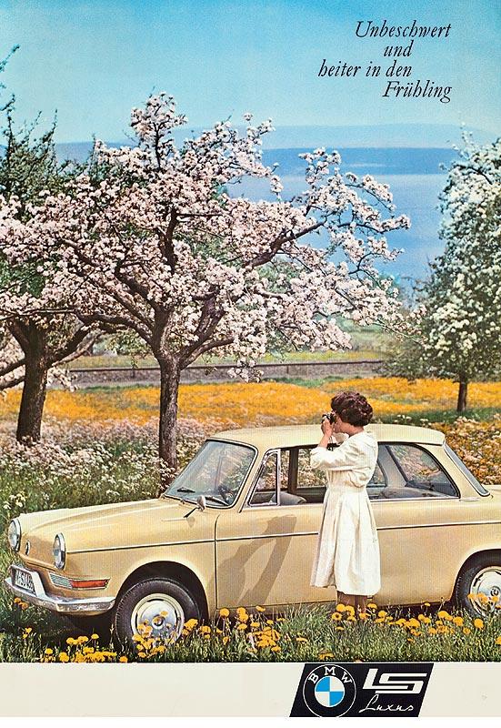 Werbeplakat BMW LS Luxus (BMW 700)