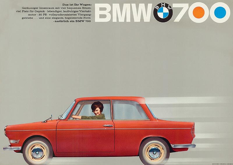 Werbeplakat BMW 700