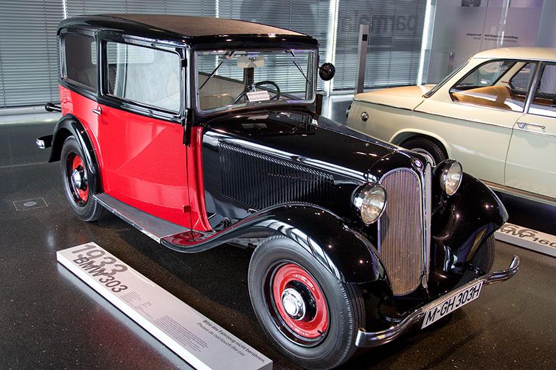 BMW 303, Bauzeit: 1933-34, Stückzahl: 2.300, 6-Zyl.-Reihenmotor, Hubraum: 1.173 ccm, 22 kW / 33 PS, vmax: 90 km/h