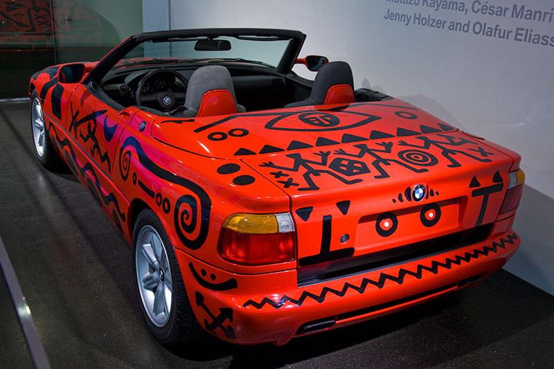 BMW Z1 Art Car von A.R. Penck aus dem Jahr 1991, eines von inzwischen 17 BMW Art Cars