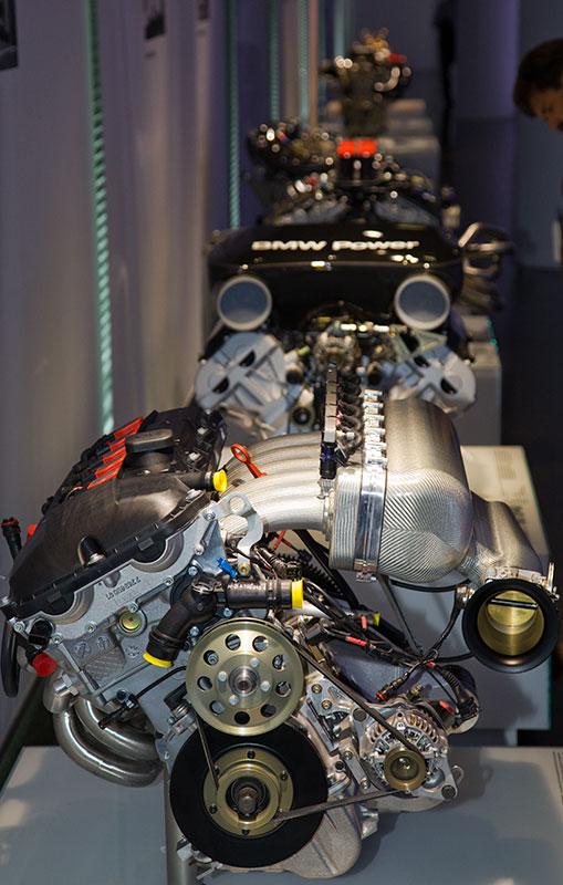 BMW Rennsport-Motoren, Ausstellung im BMW Museum