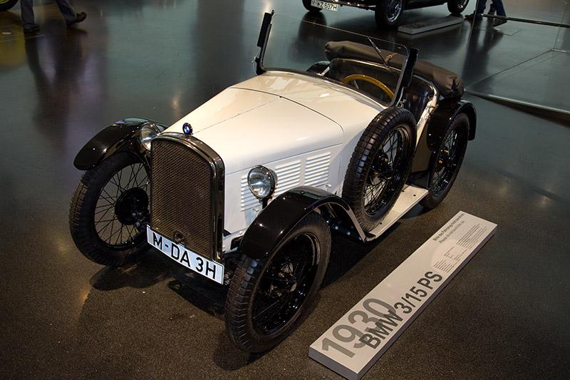 BMW 3/15 PS DA 3 Typ Wartburg, Bauzeit: 1930-31, Stückzahl: 150, 4-Zyl.-Reihenmotor, Hubraum: 748.5 ccm, 18 PS bei 3.500 U/Min., vmax: 95 km/h