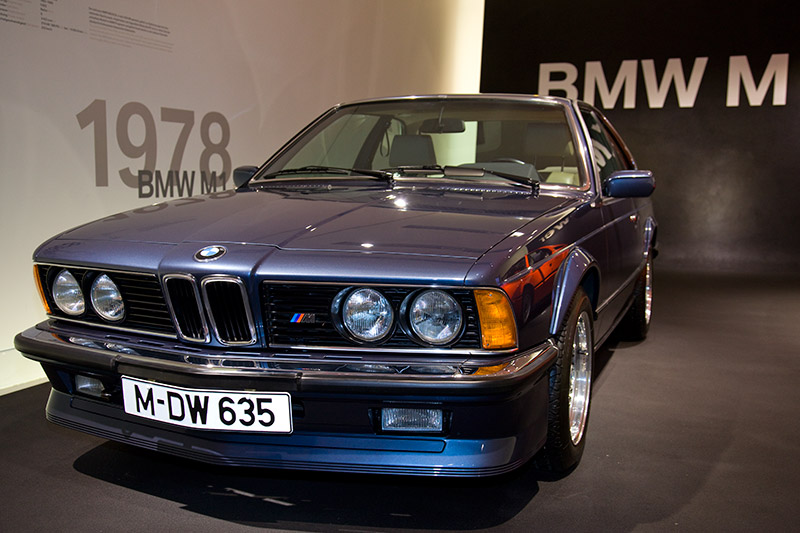 BMW M 635CSi (E24), Bauzeit: 1984-89, 6-Zyl.-Reihenmotor, Hubraum: 3.453 ccm, 260 PS bei 6.500 U/Min., 330 Nm bei 4.500 U/Min., vmax: 245 km/h