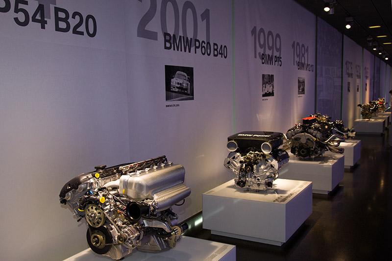 BMW Rennsport-Motoren Ausstellung im BMW Museum