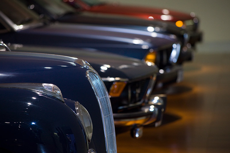 BMW 7er-Reihe mit seinen Ahnen im BMW Museum