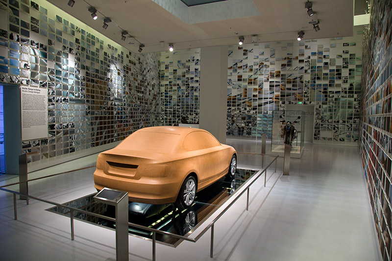 Clay-Design-Modell im Design-Atelier des BMW Museums