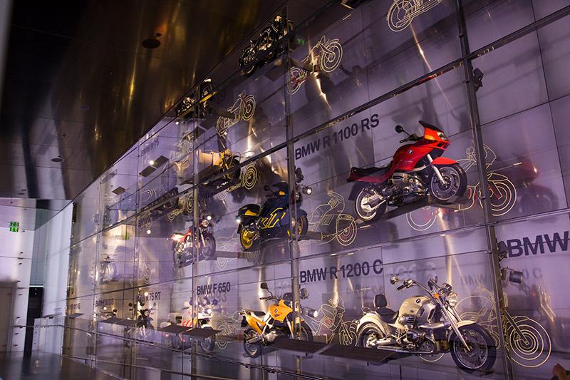 BMW Motorrad-Ausstellung im BMW Museum München