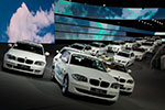 BMW EfficientDynamics Flotte auf dem BMW Messestand