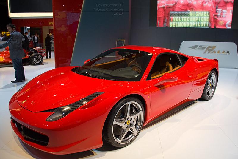 Weltpremiere in Frankfurt: Ferrari 458 Italia mit 570 PS, Höchstgeschwindigkeit: 325 km/h