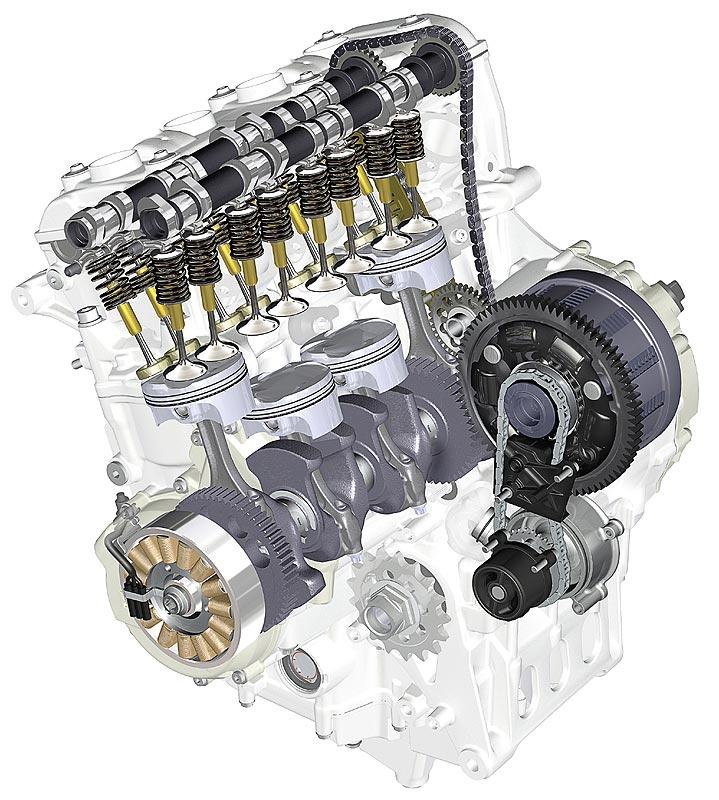 BMW Motorrad S 1000 RR, Motor mit Ölpumpe