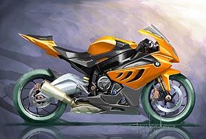BMW Motorrad S 1000 RR Designzeichnung