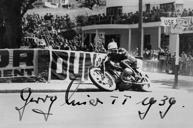 Schorsch Meier bei der Tourist Trophy (Senior TT) 1939