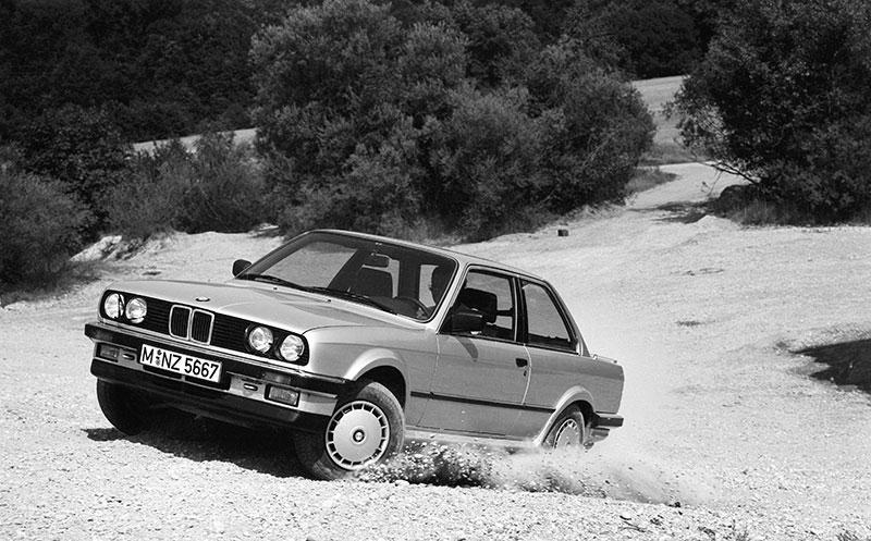 25 Jahre Allradantrieb bei BMW: der erste BMW mit Allradantrieb, der BMW 325ix (E30) im Jahr 1985