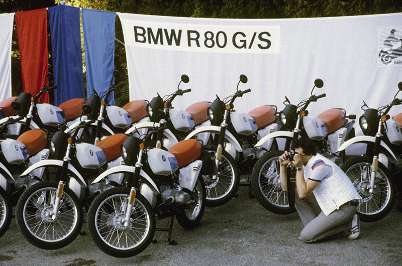 Präsentation der BMW R 80 G/S für die Presse in Avignon, 1980
