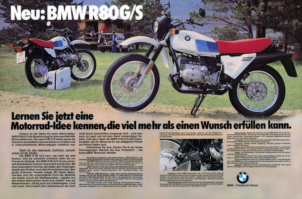 Werbemotiv 'Neu: BMW R 80 G/S'
