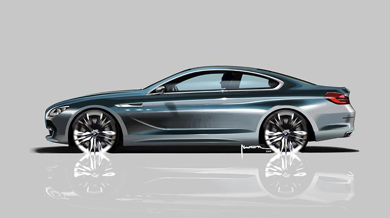 BMW Concept 6 Series Coupe, Designskizze