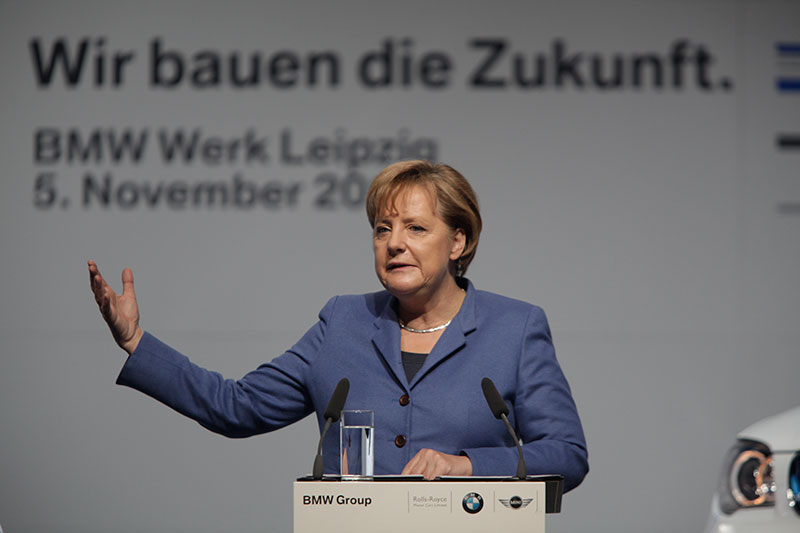 Startschuss MCV Produktion BMW Werk Leipzig, Bundeskanzlerin Dr. Angela Merkel