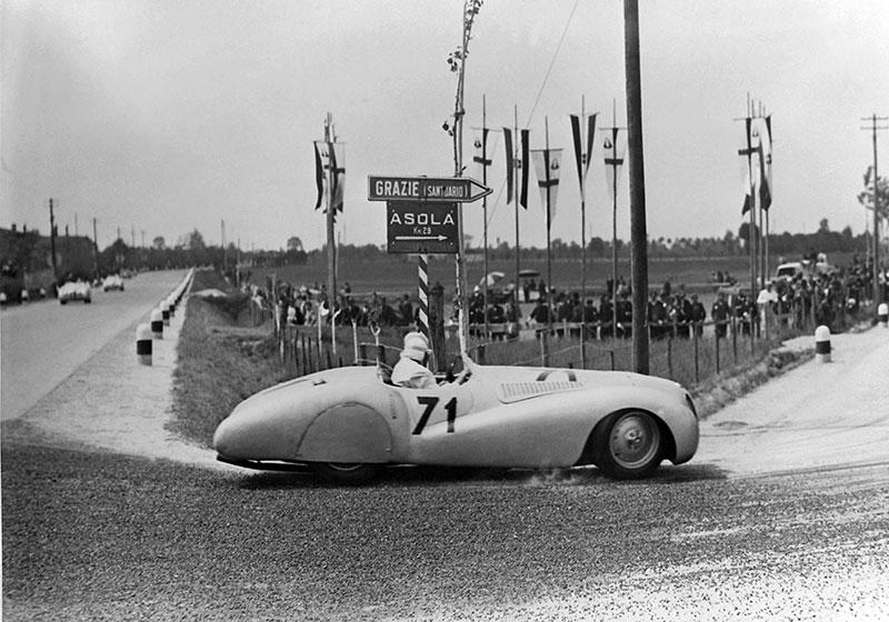 BMW 328 'Mille Miglia' Bügelfalten-Roadster während des I. Gran Premio Brescia delle Mille Miglia, 28.04.1940