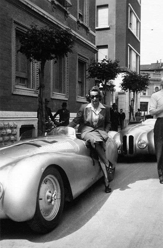 BMW 328 Mille Miglia Roadster beim I. Gran Premio Brescia delle Mille Miglia, 28.04.1940