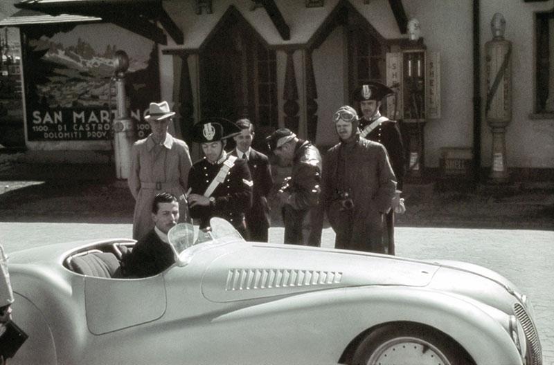 BMW 328 Mille Miglia Roadster auf dem Weg zur Mille Miglia 1940