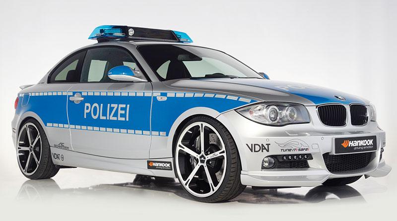 AC Schnitzer ACS1 2.3d (Basis BMW 123d Coupé) als Polizei-Einsatzwagen, Pressefoto