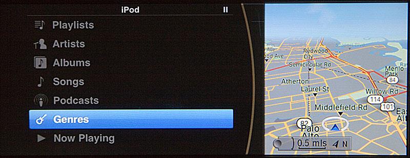 iPod Out HauptMenü von BMW ConnectedDrive