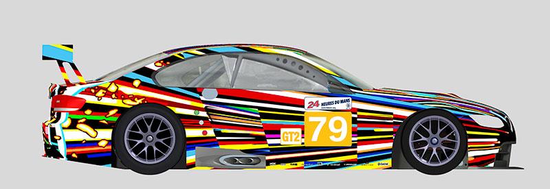 Jeff Koons: Entwurf für das 17. BMW Art Car, 2010