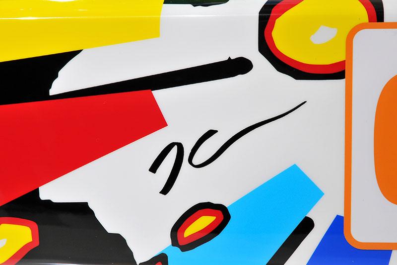 Jeff Koons' Unterschrift auf dem 17. BMW Art Car