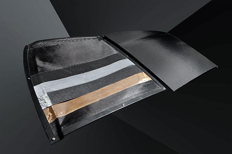 CFK-Dach BMW M3: Fasernaufbau