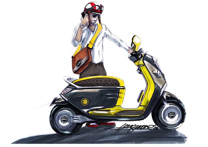 MINI Scooter E Concept, Designskizze