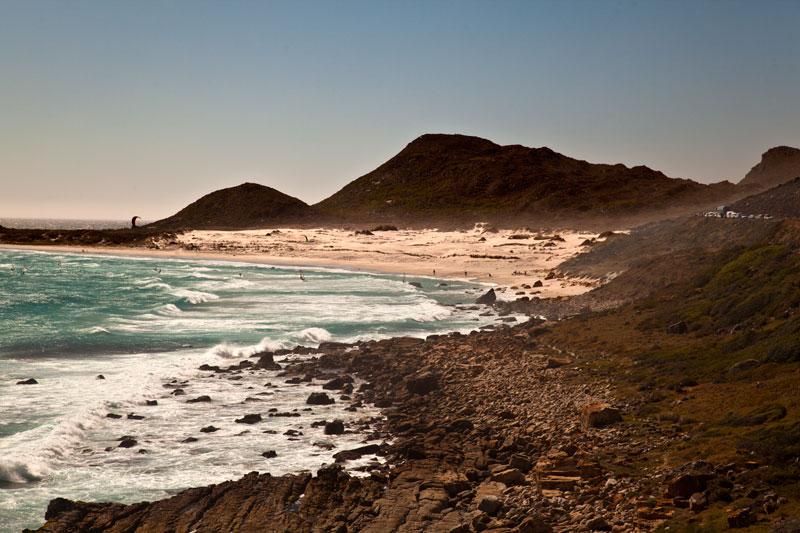 Misty Cliffs an der Atlantikküste, Süd-Afrika.