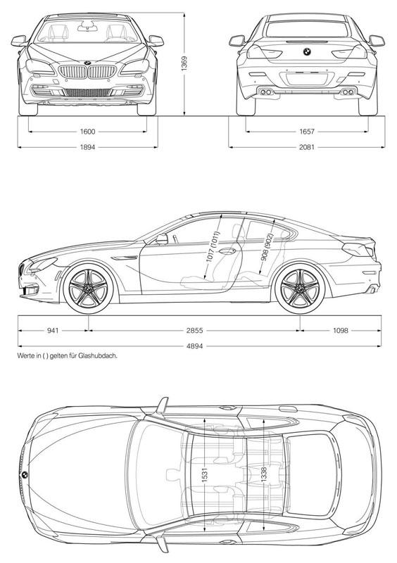Abmessungen BMW 6er Coupe