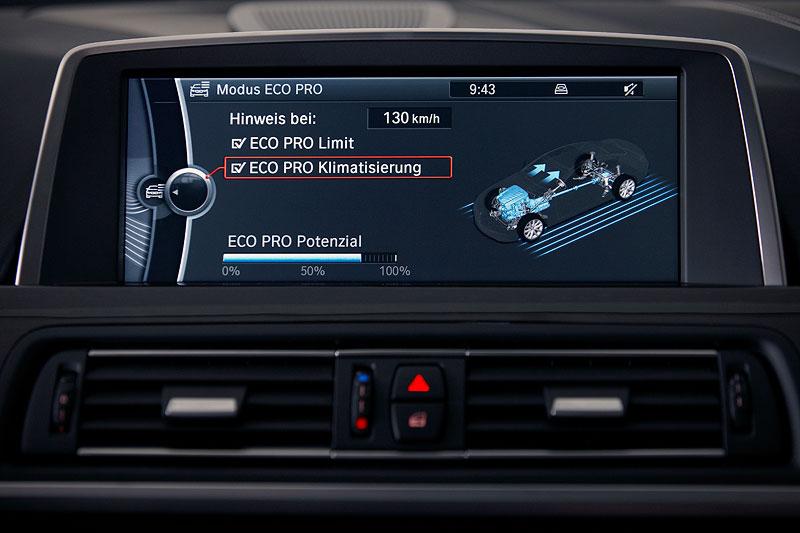 BMW 640i Coupe, Bordmonitor, Klimatisierung