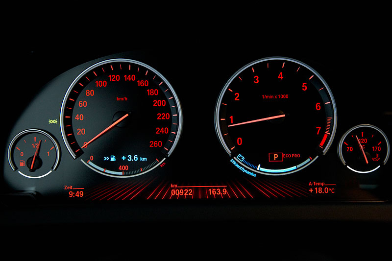 BMW 640i Coupe, Tachoinstrumente