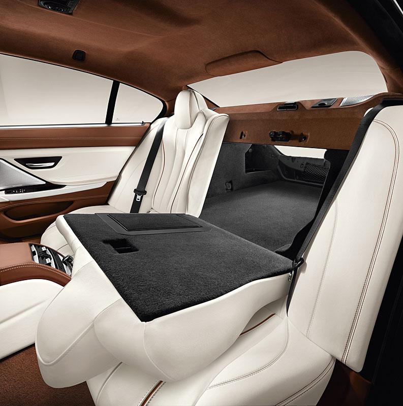 Das neue BMW 6er Gran Coupé, umgelegte Rückbank