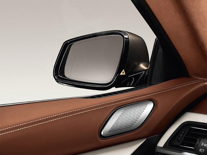 Interieur: Spurwechselwarnung, BMW Individual Lederausstattung Opalweiß mit Amarobraun, Bang und Olufsen High End Surround Sound System