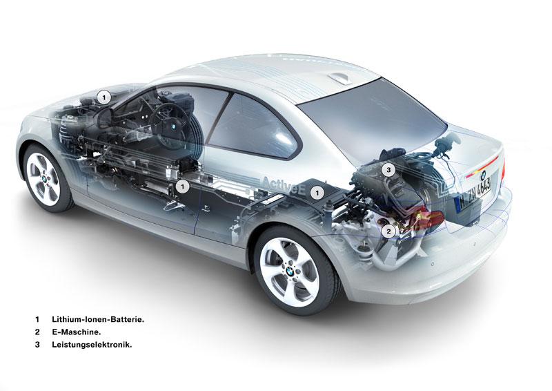 BMW ActiveE, technische Illustration
