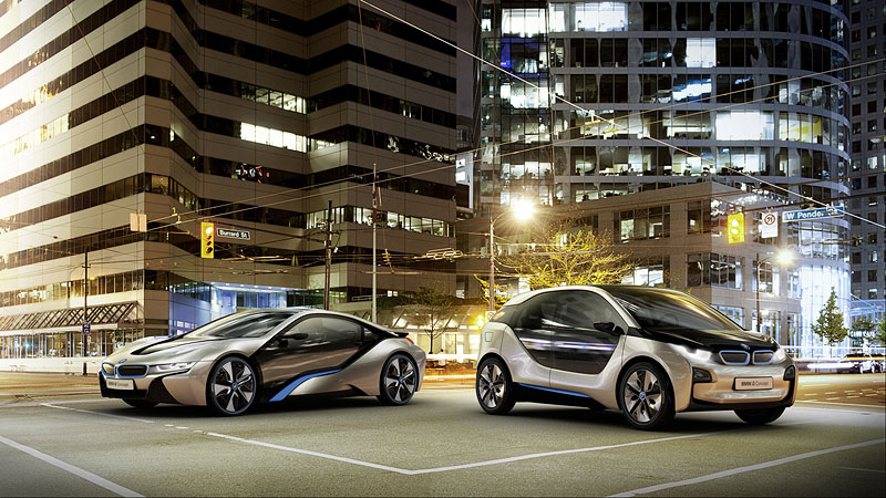 BMW i3 und BMW i8 Concept Fahrzeuge   BMW i3 und BMW i8 Concept Fahrzeuge   BMW i3 und BMW i8 Concept Fahrzeuge