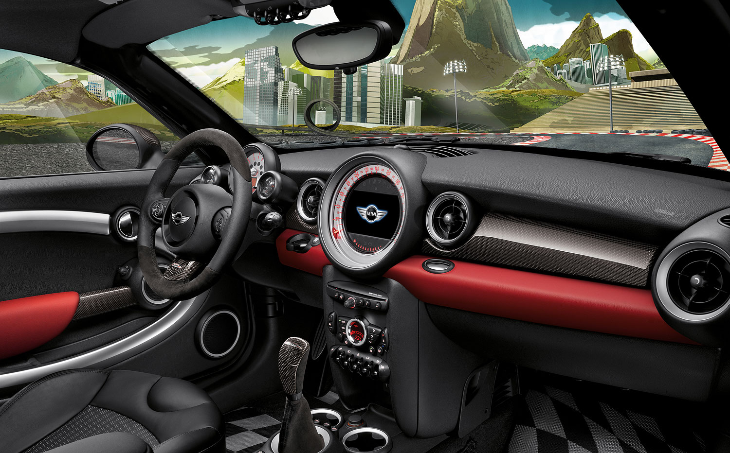 foto mini cooper s coup mini john cooper works. Black Bedroom Furniture Sets. Home Design Ideas