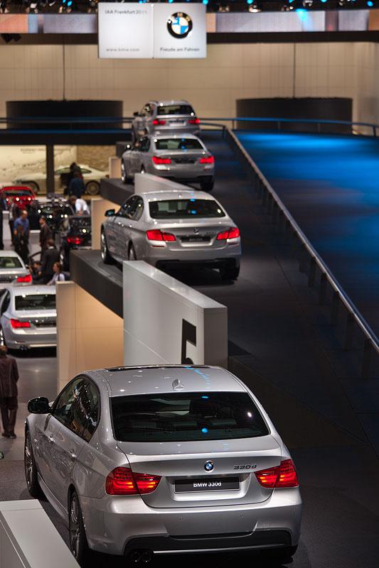 BMW auf der IAA 2011, rechts: Fahrspur